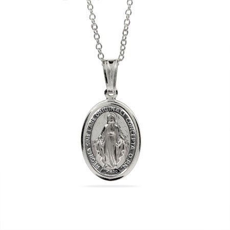 Sterling Silver Miraculous Medal | Eve's Addiction®