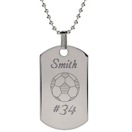 Engravable Soccer Dog Tag | Eve's Addiction®