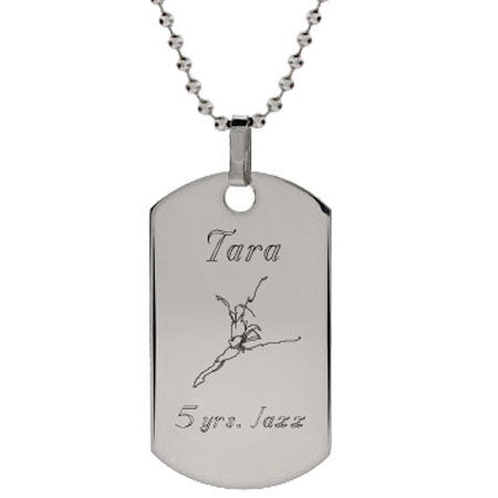 Dancer Dog Tag Necklace | Eve's Addiction®