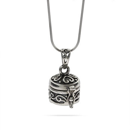 Bali Style Sterling Silver Prayer Box Pendant