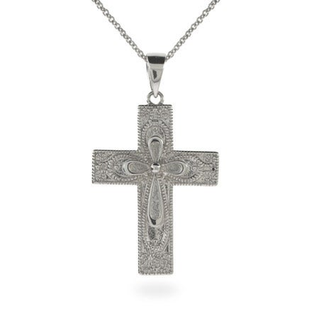 Beautiful Ornate Style Serenity Prayer Cross Pendant