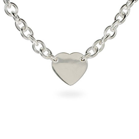 Designer Style Engravable Heart ID Necklace | Eve's Addiction®