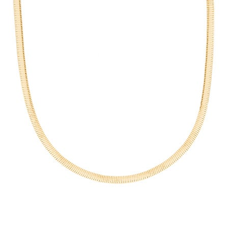 Reversible Sterling Silver and Gold Vermeil Omega Necklace