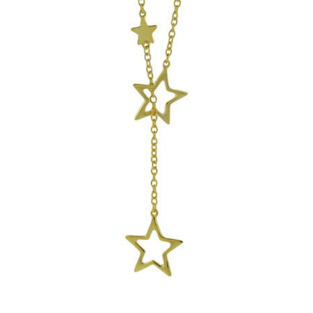 Cascading Stars Gold Vermeil Lariat | Eve's Addiction®