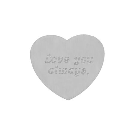 Engravable Secret Message Heart Insert | Eve's Addiction®