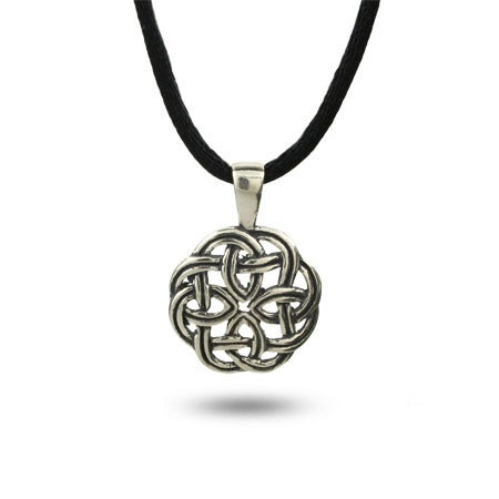 Sterling Silver Round Celtic Knot Pendant