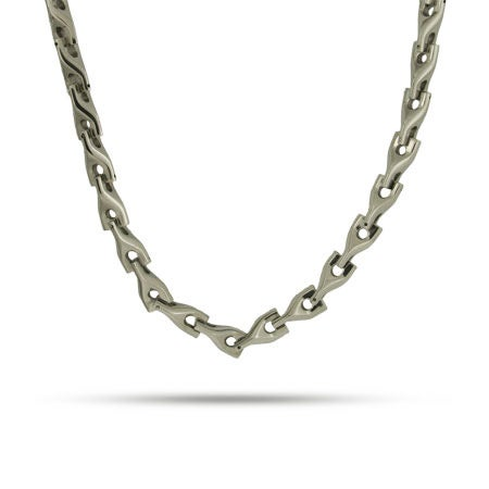 Mens Stainless Steel Bullet Link Necklace