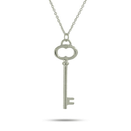 Sterling Silver Oval Key Pendant | Eve's Addiction