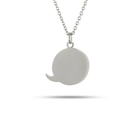 Engravable Chat Charm Necklace