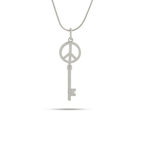 Peace Sign Key Necklace