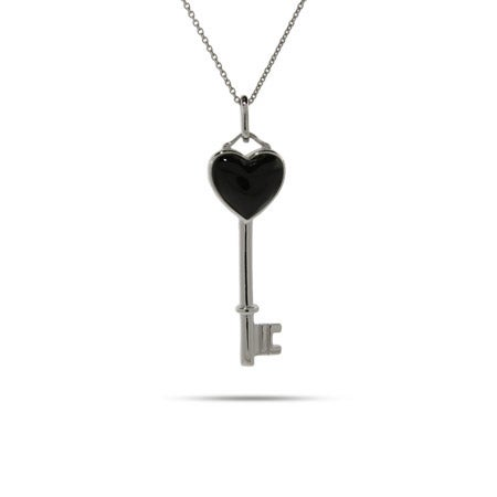 Onyx Heart Key Pendant | Eve's Addiction®