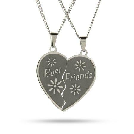 Engraved Best Friends Necklaces Set