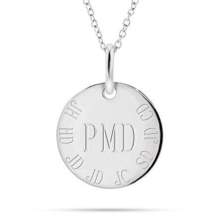 Engravable Family Initials Mother's Charm Necklace