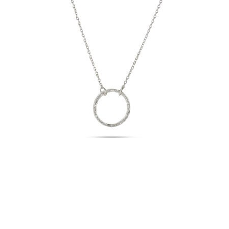 Designer Style Sterling Silver Petite O Necklace | Eve's Addiction®