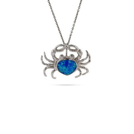 Opal Blue Crab Pendant | Eve's Addiction