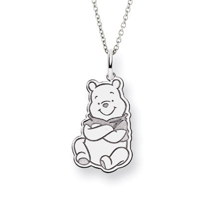 Sterling Silver Winnie the Pooh Pendant