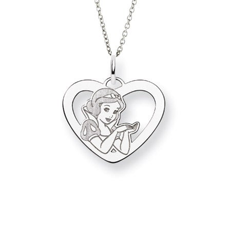 Sterling Silver Snow White Pendant