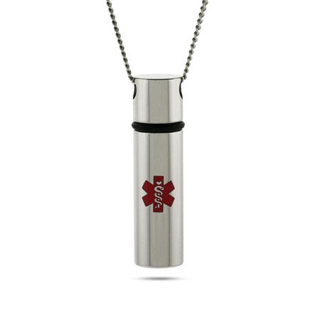 Engravable Medical ID Capsule Pendant