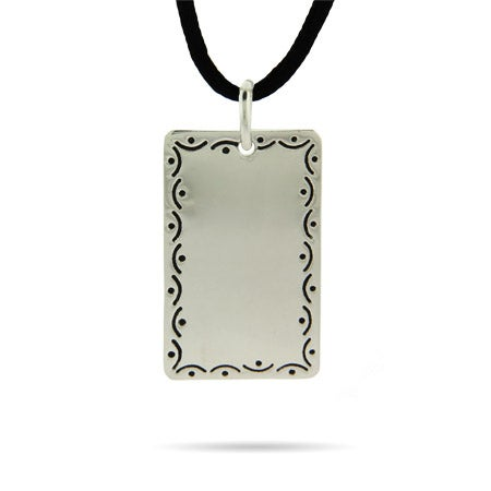 Engravable Scrollwork Dog Tag | Eve's Addiction