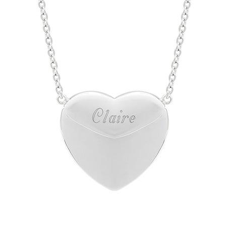 Engravable Sterling Silver Secret Message Heart Locket