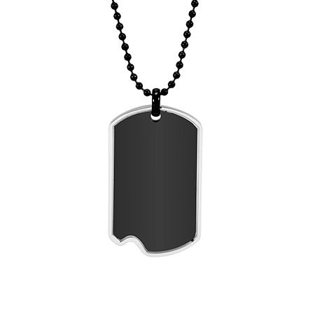 Engravable Black And Stainless Steel Dog Tag | Eve's Addiction®
