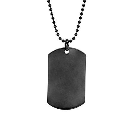 Engravable Gunmetal Dog Tag Necklace | Eve's Addiction