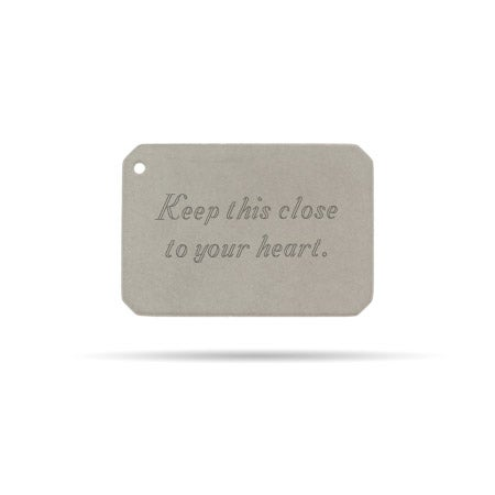 Engravable Secret Message Envelope Insert
