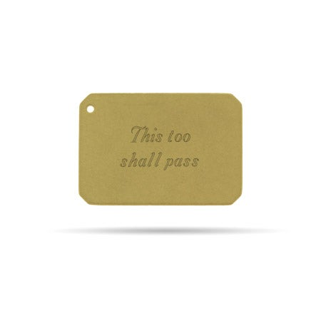 Gold Plated Engravable Secret Message Envelope Insert