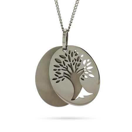 Engravable Tree of Life Tag Pendant