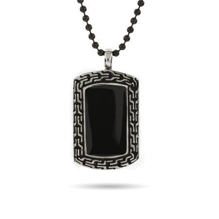 Designer Inspired Engravable Onyx Dog Tag | Eve's Addiction®