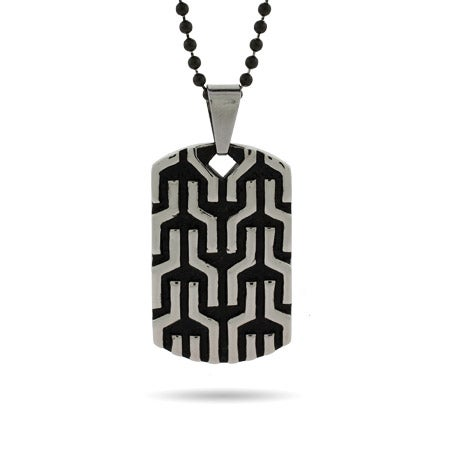 Engravable Designer Inspired Tribal Design Dog Tag