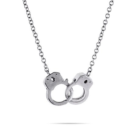 Sterling Silver Handcuff Necklace | Eve's Addiction®
