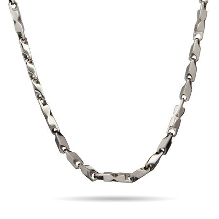 Men's Stainless Steel Think Bullet Link Chain