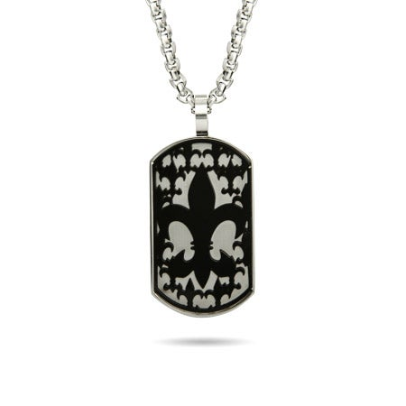 Fleur de Lis Black Silhouette Dog Tag | Eve's Addiction®
