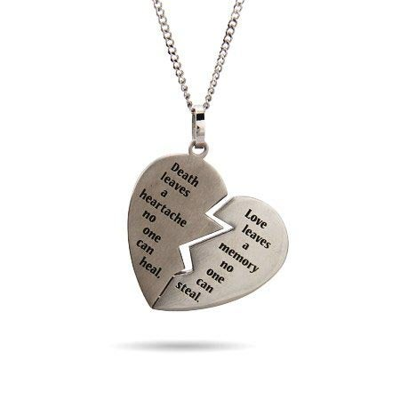 Engravable Broken Heart Bereavement Pendant