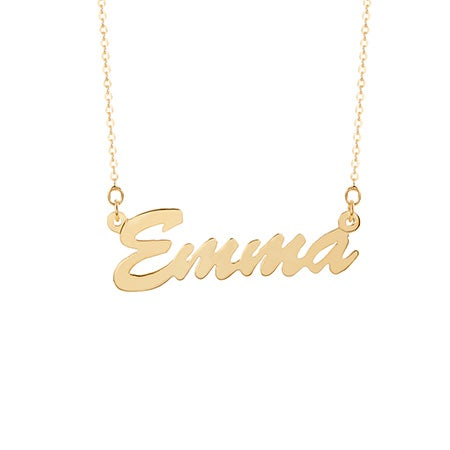Thin Gold Plated Nameplate Necklace