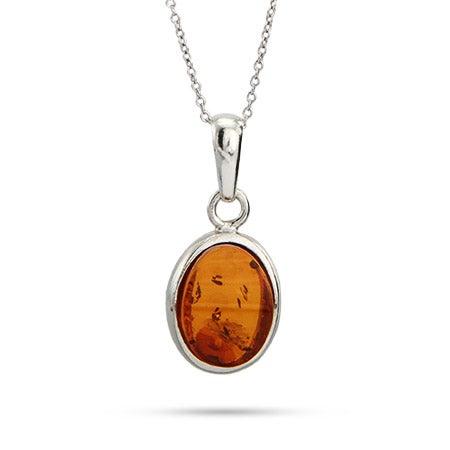 Oval Cut Baltic Amber Pendant | Eve's Addiction
