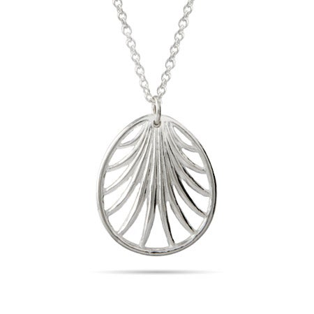 Sterling Silver Palm Necklace
