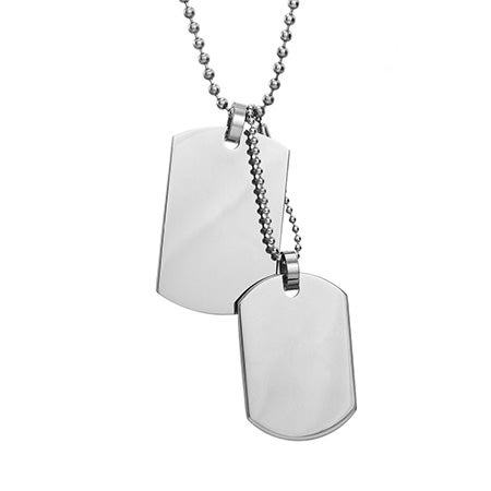 Medium and Small Double Dog Tag Pendant | Eve's Addiction®
