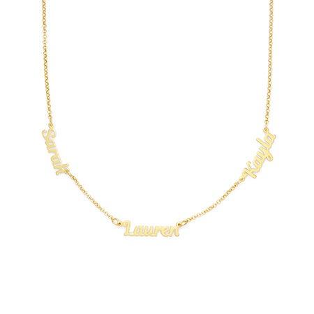 Gold Vermeil Custom 3 Name Necklace