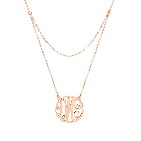 Custom Rose Gold Vermeil Monogram Necklace | Eve's Addiction
