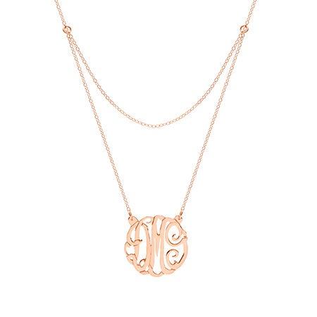 Custom Rose Gold Vermeil Monogram Necklace | Eve's Addiction
