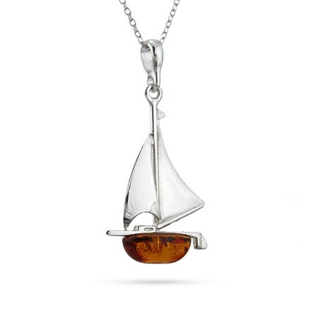Amber Sailboat Pendant | Eve's Addiction