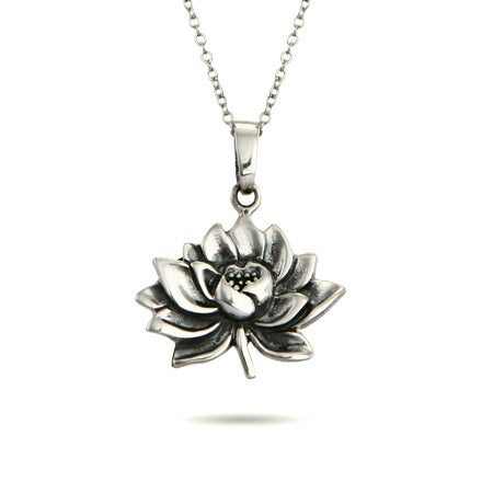 Lotus Flower Pendant in Sterling Silver | Eve's Addiction