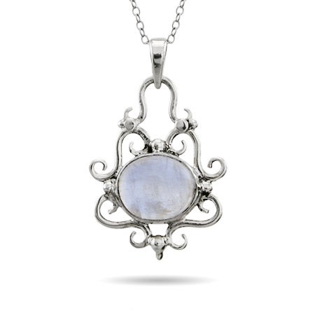 Vintage Scrollwork Moonstone Pendant | Eve's Addiction