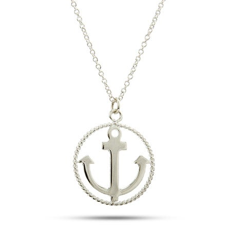 Twisted Border Anchor Necklace | Eve's Addiction®