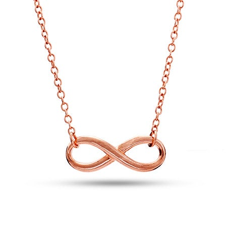Rose Gold Infinity Necklace | Eve's Addiction