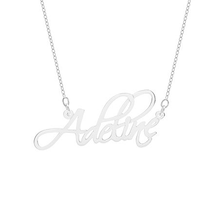 Script Sterling Silver Custom Name Necklace | Eve's Addiction
