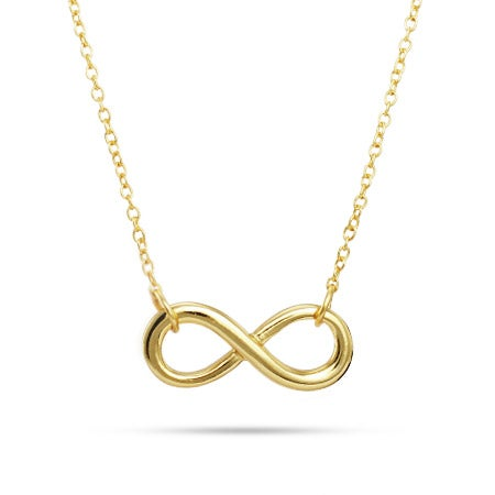 Gold Vermeil Infinity Necklace | Eve's Addiction