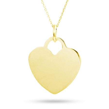 Engravable Gold Vermeil Heart Pendant | Eve's Addiction